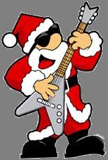santa on guitar