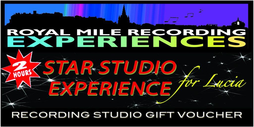 recording studio gift voucher